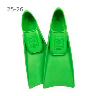 Ласты детские для бассейна Propercarry Super Elastic, размер - 25-26, цвет - зелёный, 100% натуральный каучук