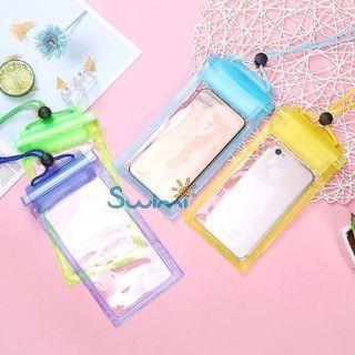 Герметичный непромокаемый чехол для телефона , цвет - фиолетовый, ПВХ, рис. 6 - Swimi - интернет магазин