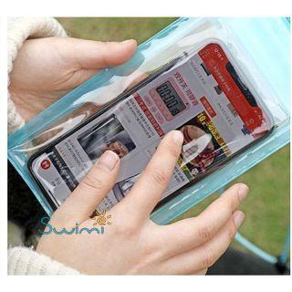 Герметичный непромокаемый чехол для телефона , цвет - фиолетовый, ПВХ, рис. 2 - Swimi - интернет магазин