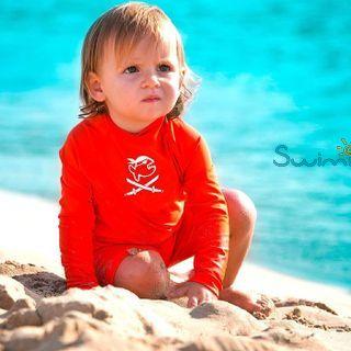 УФ-защитный детский гидрокостюм IQ-UV Shorty Jolly Fish, рост - 80-86 см, возраст - 1-1,5 года, оранжевый, рис. 3 - Swimi - интернет магазин