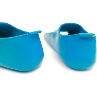 Ласты детские Propercarry укороченные тренировочные, размер - 31-32, цвет - голубой (аква), 100% натуральный каучук, рис. 3 - Swimi - интернет магазин