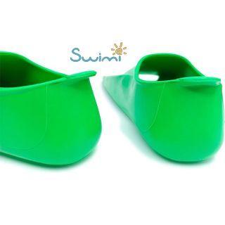 Ласты детские Propercarry укороченные тренировочные, размер - 29-30, цвет - зелёный, 100% натуральный каучук, рис. 5 - Swimi - интернет магазин