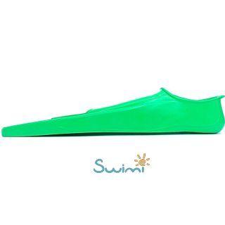 Ласты детские Propercarry укороченные тренировочные, размер - 29-30, цвет - зелёный, 100% натуральный каучук, рис. 4 - Swimi - интернет магазин