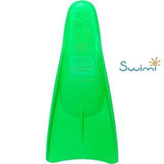 Ласты детские Propercarry укороченные тренировочные, размер - 29-30, цвет - зелёный, 100% натуральный каучук, рис. 2 - Swimi - интернет магазин