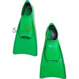 Ласты детские Propercarry укороченные тренировочные, размер - 31-32, цвет - зелёный, 100% натуральный каучук, рис. 6 - Swimi - интернет магазин