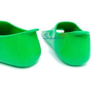 Ласты детские Propercarry укороченные тренировочные, размер - 31-32, цвет - зелёный, 100% натуральный каучук, рис. 5 - Swimi - интернет магазин