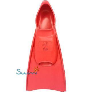 Ласты детские Propercarry укороченные тренировочные, размер - 29-30, цвет - красный, 100% натуральный каучук, рис. 3 - Swimi - интернет магазин