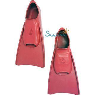 Ласты детские укороченные тренировочные Propercarry Junior, размер - 39-40, цвет - красный, 100% натуральный каучук, рис. 6 - Swimi - интернет магазин