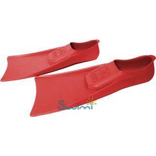 Детские ласты Propercarry Super Elastic, 100% мягкий каучук, закрытая пятка, 25-26, красные + детские очки для плавания Cressi Crab прозрачные, рис. 6 - Swimi - интернет магазин