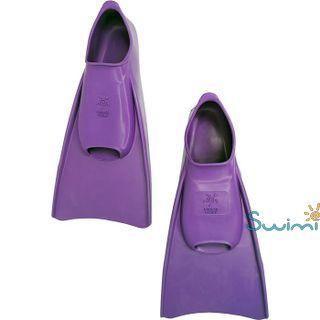 Ласты детские Propercarry укороченные тренировочные, размер - 29-30, цвет - фиолетовый, 100% натуральный каучук, рис. 6 - Swimi - интернет магазин
