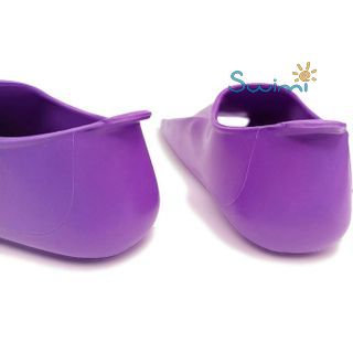 Ласты детские Propercarry укороченные тренировочные, размер - 29-30, цвет - фиолетовый, 100% натуральный каучук, рис. 5 - Swimi - интернет магазин