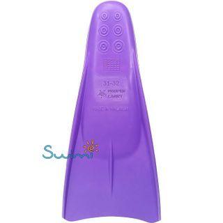 Ласты детские Propercarry укороченные тренировочные, размер - 29-30, цвет - фиолетовый, 100% натуральный каучук, рис. 2 - Swimi - интернет магазин