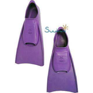 Ласты детские укороченные тренировочные Propercarry Junior, размер - 35-36, цвет - фиолетовый, 100% натуральный каучук, рис. 6 - Swimi - интернет магазин