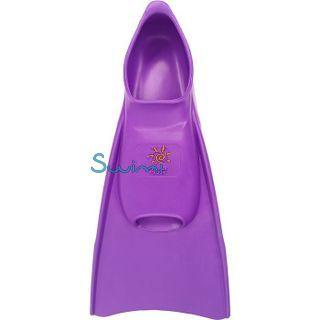 Ласты детские укороченные тренировочные Propercarry Junior, размер - 35-36, цвет - фиолетовый, 100% натуральный каучук, рис. 3 - Swimi - интернет магазин