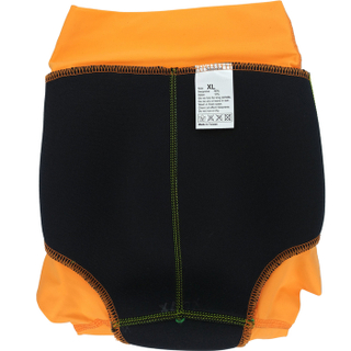 Детский многоразовый подгузник Propercarry неопреновый, 1,5 - 2 года, размер - XL, 86-92 см, вес ребенка - от 12 до 14 кг, принт - Роботы на зеленом - артикул: SN1903-002XL + Ласты детские грудничковые Propercarry, рис. 4 - Swimi - интернет магазин