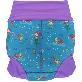Детский многоразовый подгузник Propercarry неопреновый, 1-1,5 года, размер - L, 74-80 см, вес ребенка - от 10 до 12 кг, принт - Русалки на голубом - артикул: SN1903-001L + Ласты детские грудничковые Propercarry, рис. 3 - Swimi - интернет магазин