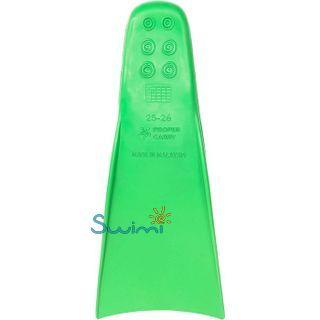 Ласты детские для бассейна Propercarry Elastic, размер - 27-28, цвет - зелёный, 100% натуральный каучук, рис. 3 - Swimi - интернет магазин