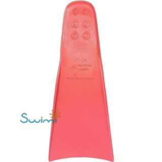 Ласты детские для бассейна Propercarry Elastic, размер - 27-28, цвет - красный, 100% натуральный каучук, рис. 3 - Swimi - интернет магазин