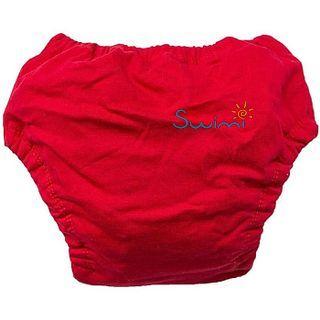 Для мальчика. Ласты детские грудничковые Propercarry Super Elastic, размер - 23-24, цвет - фиолетовый, 100% натуральный каучук + Многоразовые красные трусики-подгузники, рис. 7 - Swimi - интернет магазин