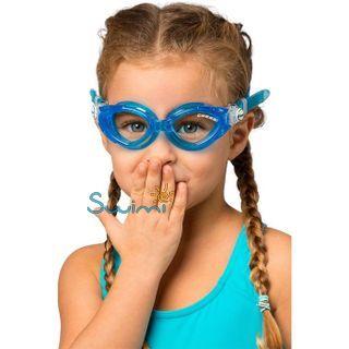 Детские очки для плавания Cressi KING CRAB, возраст - 7-15 лет, цвет - фиолетовый, цвет стёкол - прозрачный, Италия, рис. 4 - Swimi - интернет магазин