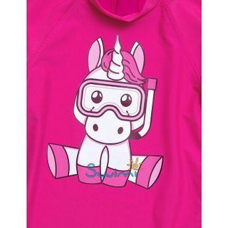 УФ-защитная детская футболка IQ-UV Unicorn Kids, рост - 116-122 см, возраст - 6-7 лет, цвет - розовый, рис. 2 - Swimi - интернет магазин