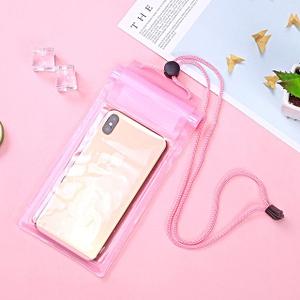 Герметичный непромокаемый чехол для телефона , цвет - розовый, ПВХ, рис. 1 - Swimi - интернет магазин