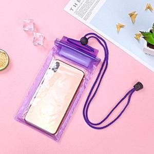 Герметичный непромокаемый чехол для телефона , цвет - фиолетовый, ПВХ, рис. 1 - Swimi - интернет магазин
