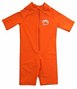 УФ-защитный детский гидрокостюм IQ-UV Shorty Jolly Fish, рост - 80-86 см, возраст - 1-1,5 года, оранжевый, рис. 1 - Swimi - интернет магазин