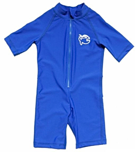 УФ-защитный детский гидрокостюм IQ-UV Shorty Jolly Fish, рост - 104-110 см, возраст - 4-5 лет, синий, рис. 1 - Swimi - интернет магазин