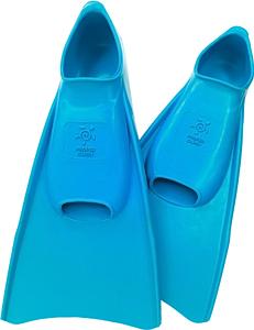 Ласты детские укороченные тренировочные Propercarry Junior, размер - 39-40, цвет - голубой (аква), 100% натуральный каучук, рис. 1 - Swimi - интернет магазин