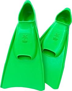 Ласты детские Propercarry укороченные тренировочные, размер - 31-32, цвет - зелёный, 100% натуральный каучук, рис. 1 - Swimi - интернет магазин