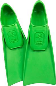 В бассейн - детские ласты Propercarry Super Elastic зелёные из мягкой природной резины с закрытой пяткой, 25-26 размер и детские очки для плавания Cressi Crab розовые, рис. 1 - Swimi - интернет магазин