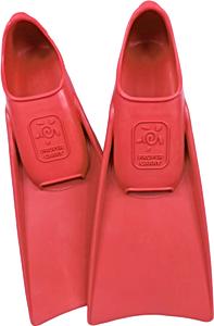 Детские ласты Propercarry Super Elastic, 100% мягкий каучук, закрытая пятка, 25-26, красные + детские очки для плавания Cressi Crab прозрачные, рис. 1 - Swimi - интернет магазин