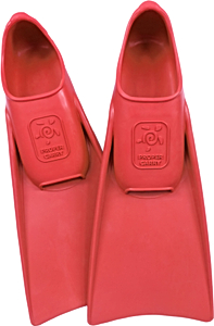 Ласты детские для бассейна Propercarry Elastic, размер - 27-28, цвет - красный, 100% натуральный каучук, рис. 1 - Swimi - интернет магазин