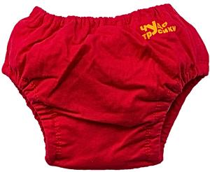 Для мальчика. Ласты детские грудничковые Propercarry Super Elastic, размер - 23-24, цвет - фиолетовый, 100% натуральный каучук + Многоразовые красные трусики-подгузники, рис. 2 - Swimi - интернет магазин
