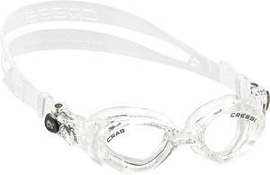 Детские ласты Propercarry Super Elastic, 100% мягкий каучук, закрытая пятка, 25-26, красные + детские очки для плавания Cressi Crab прозрачные, рис. 2 - Swimi - интернет магазин