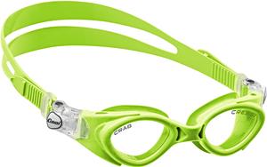В бассейн - детские ласты Propercarry Super Elastic, 100% мягкий каучук, закрытая пятка, 25-26, салатовые и детские очки для плавания Cressi Crab зелёные, рис. 2 - Swimi - интернет магазин
