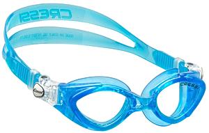 Детские очки для плавания Cressi KING CRAB, возраст - 7-15 лет, цвет - голубой (небесный), цвет стёкол - прозрачный, Италия, рис. 1 - Swimi - интернет магазин