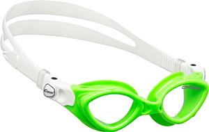 Детские очки для плавания Cressi KING CRAB, возраст - 7-15 лет, цвет - салатовый (зеленый), цвет стёкол - прозрачный, Италия, рис. 1 - Swimi - интернет магазин