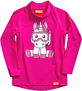 УФ-защитная детская футболка IQ-UV Unicorn Kids, рост - 80-86 см, возраст - 1-1,5 лет, цвет - розовый, рис. 2 - Swimi - интернет магазин