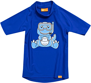 УФ-защитная детская футболка IQ-UV Dino Kids, рост - 80-86 см, возраст - 1-1,5 года, цвет - синий, рис. 1 - Swimi - интернет магазин
