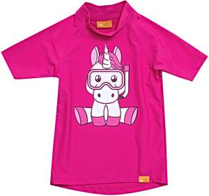 УФ-защитная детская футболка IQ-UV Unicorn Kids, рост - 116-122 см, возраст - 6-7 лет, цвет - розовый, рис. 1 - Swimi - интернет магазин